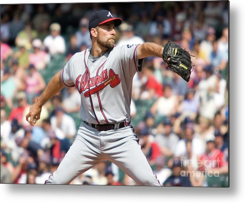 People Metal Print featuring the photograph John Smoltz by Icon Sports Wire
