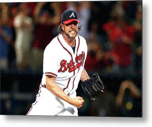 Atlanta Metal Print featuring the photograph Lucas Duda And Jason Grilli by Kevin C. Cox