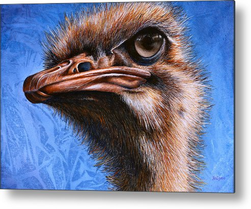 Ostrich Metal Print featuring the print Fugley by JoLyn Holladay