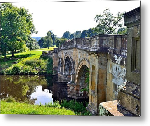 Landscapes Metal Print featuring the photograph Chatsworth Bridge by Moments In Time Photographics
