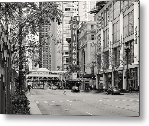 Chicago Metal Print featuring the photograph Chicago Theatre - French Baroque Out Of A Movie by Christine Till