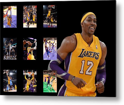 Dwight Howard Metal Print featuring the photograph Dwight Howard by Joe Hamilton