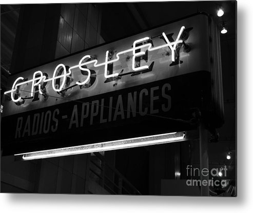 Powell Crosley Metal Print featuring the photograph Name In Lights by Mel Steinhauer