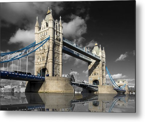 Architecture Metal Print featuring the photograph The Tower Bridge by Darren Patterson