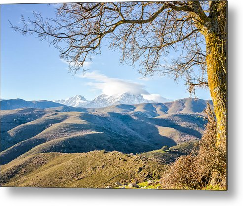 Balagne Metal Print featuring the photograph Monte Cinto From Col De San Colombano In Corsica by Jon Ingall