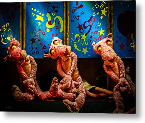 Toy Metal Print featuring the photograph 3 Wet Pink Panthers by Bob Orsillo