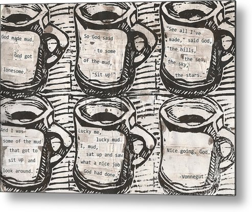Java Metal Print featuring the drawing Java by William Cauthern