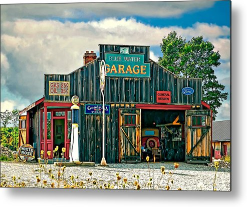 Oil Metal Print featuring the photograph A Simpler Time by Steve Harrington