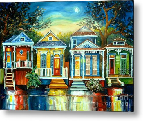 New Orleans Metal Print featuring the painting Big Easy Moon by Diane Millsap