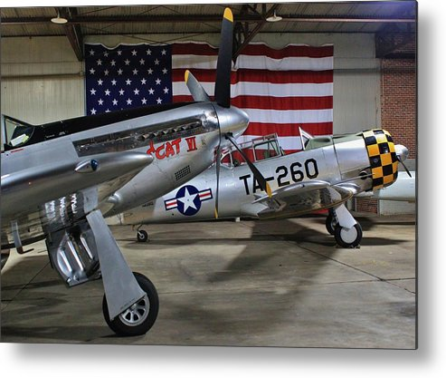 P-51 Metal Print featuring the photograph Birds Of A Feather by Scott Stephens