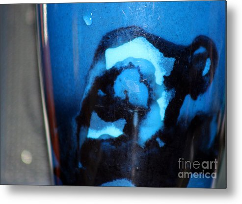 Abstract Metal Print featuring the photograph Blue Instant by Karen Adams