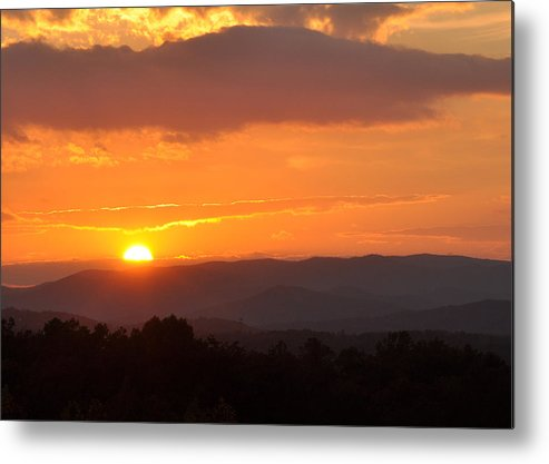Metal Print featuring the photograph Blue Ridge Sunset by Theron Clore