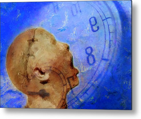 Abstract Metal Print featuring the photograph Blue World by Andrew Giovinazzo