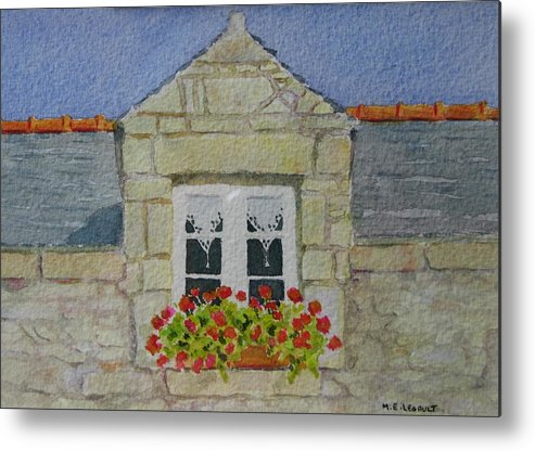 France Metal Print featuring the painting Bretagne Window by Mary Ellen Mueller Legault