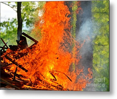 Nature Metal Print featuring the photograph Burning Brush by Debbie Portwood