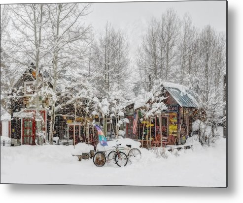 Winter Metal Print featuring the photograph Camp 4 Coffee - Winter by Dusty Demerson