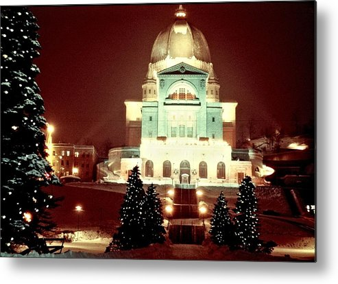 George Cousins Metal Print featuring the photograph Christmas At St. Joseph's Oratory by George Cousins