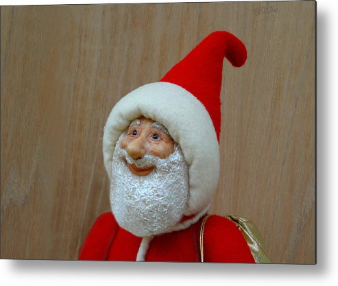 Santa Claus Metal Print featuring the sculpture Christmas Cheer by David Wiles