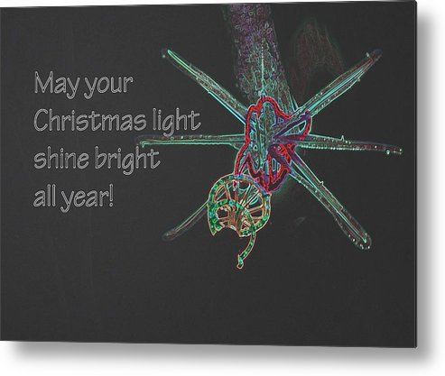 Newport Metal Print featuring the photograph Christmas Star Light 26762 Ge by Jerry Sodorff