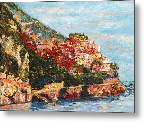 Italy Metal Print featuring the painting Cinque Terra by Rob White