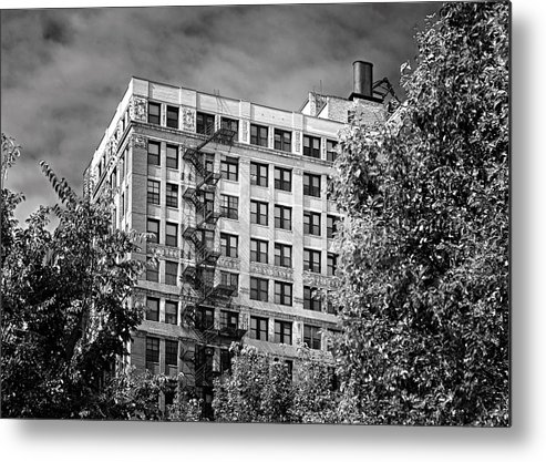 Chicago Metal Print featuring the photograph Classic Iron Fire Escape Chicago Il by Christine Till