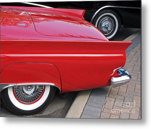 Classic Car Metal Print featuring the photograph Classic Red And Black by Ann Horn