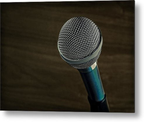 Technology Metal Print featuring the photograph Cool Microphone by Phil Cardamone