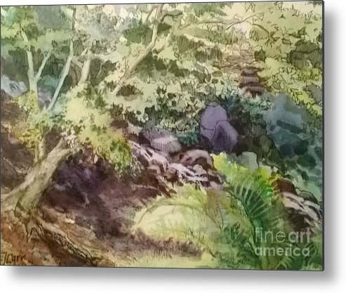 Garden Metal Print featuring the painting Creekside Smith Gilbert Gardens by Elizabeth Carr