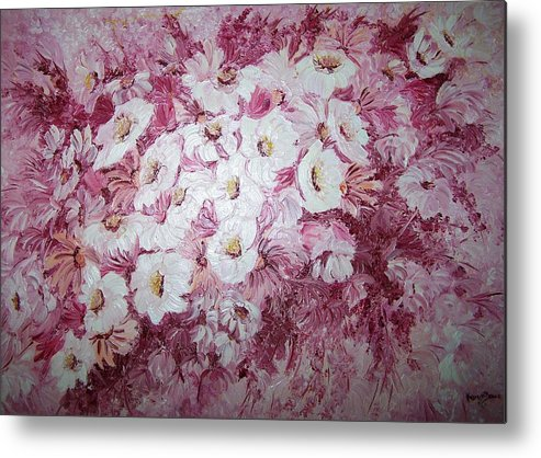 Metal Print featuring the painting Daisy Blush by Karin Dawn Kelshall- Best