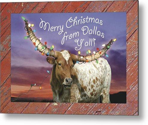 Dallas Metal Print featuring the photograph Dallas Christmas Card by Robert Anschutz