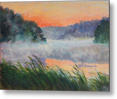 Impressionism Metal Print featuring the painting Dawn Reflection Study by Keith Burgess