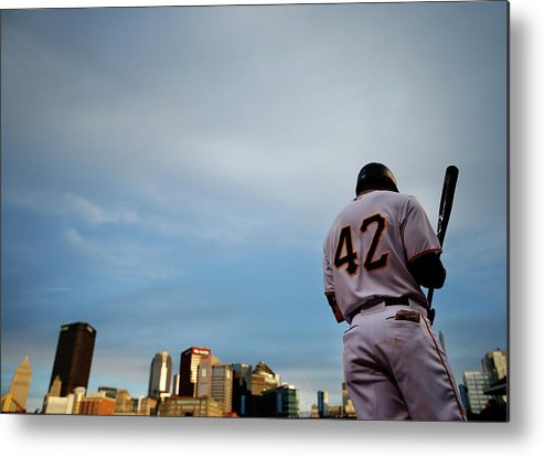 Second Inning Metal Print featuring the photograph Detroit Tigers V Pittsburgh Pirates by Jared Wickerham