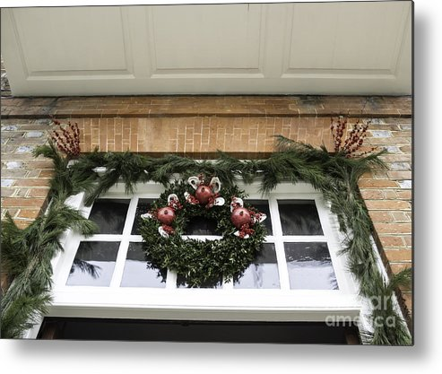 2013 Metal Print featuring the photograph Door Trim Governors Palace by Teresa Mucha
