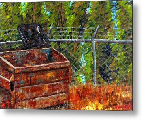 Dumpsters Metal Print featuring the painting Dumpster No.7 by Blake Grigorian