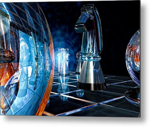Chess Metal Print featuring the photograph Game Transparent by Bob Orsillo