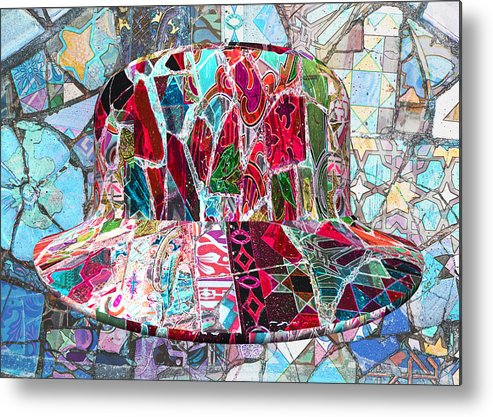 Antonio Gaudi Metal Print featuring the digital art Gaudi's Hat #1 by Chas Hauxby