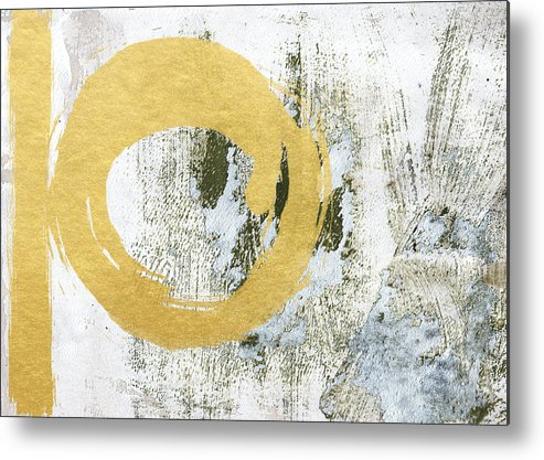 Gold Metal Print featuring the painting Gold Rush - Abstract Art by Linda Woods