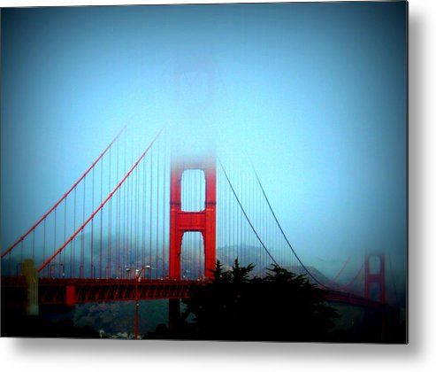 Bridges Metal Print featuring the photograph Golden Gate Bridge by Toni Abdnour