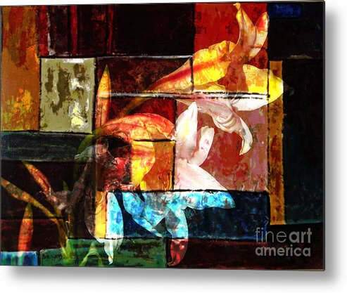 Abstract Metal Print featuring the digital art Gracefull by Yael VanGruber