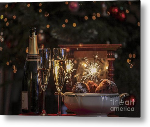 New Year's Eve Metal Print featuring the photograph Happy New Year by Patricia Hofmeester