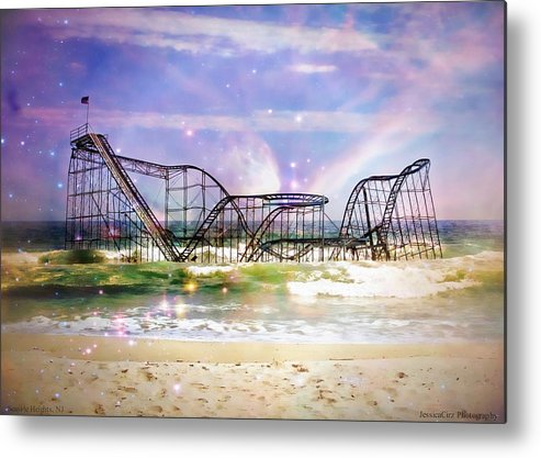 Hurricane Sandy Metal Print featuring the photograph Hurricane Sandy Jetstar Roller Coaster Fantasy by Jessica Cirz
