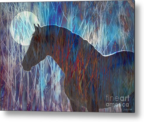 Horse Metal Print featuring the digital art Ice Horse by Judy Wood