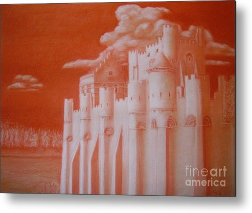 Castle Metal Print featuring the drawing Kelly's Camelot by Kelly Statham