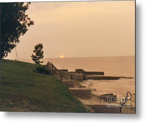 Scenery Metal Print featuring the photograph Lake Erie Sunset by Gia Mate