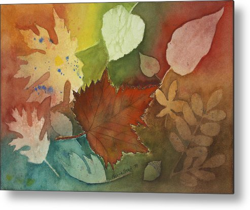 Leaves Metal Print featuring the painting Leaves Vl by Patricia Novack