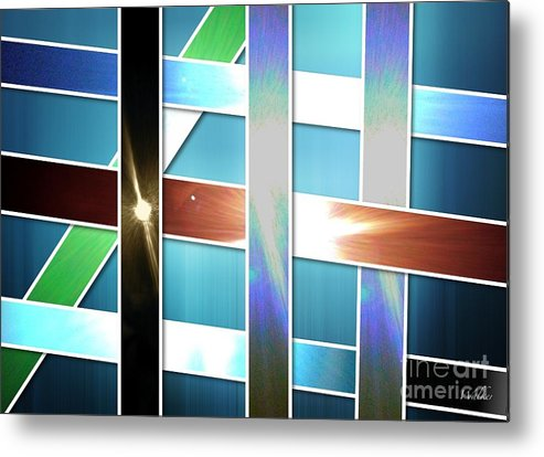 Metal Print featuring the photograph Lights And Strips by Schnina Walker