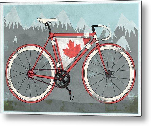 Canada Metal Print featuring the digital art Love Canada Bike by Andy Scullion