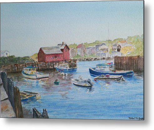 Motif 1 Metal Print featuring the painting Motif 1 by Michael McGrath