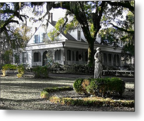 Myrtles Plantation Metal Print featuring the digital art Myrtles Plantation by Kelly Schutz