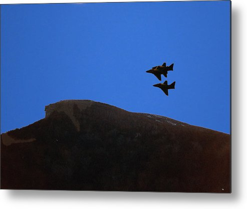 Old Man Of The Mountain Metal Print featuring the photograph Old Man Of The Mountain Flyover by Richard Griffis